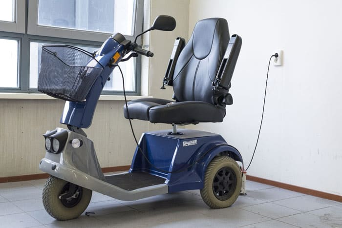 Mobility scooter charging