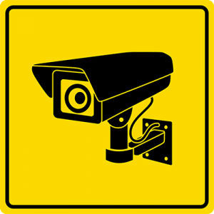 Fake security system sign