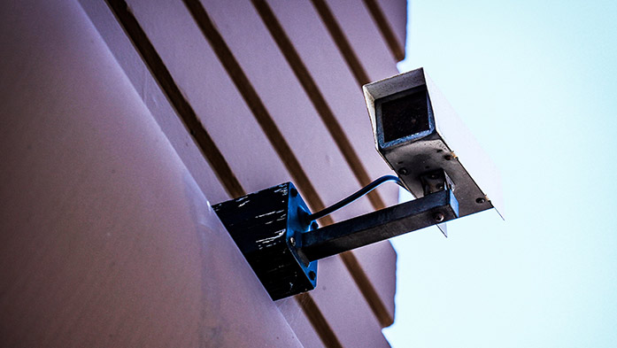 Secure windows with security camera