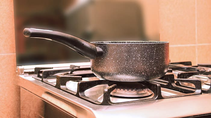Disinfect with boiling water