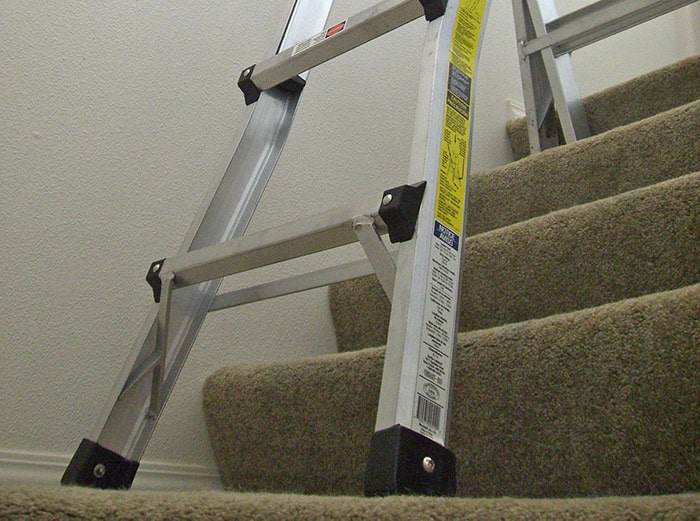 Ladder on the stairs