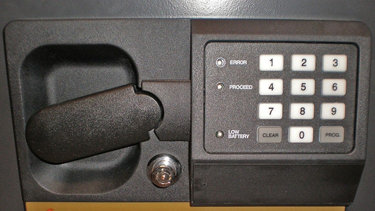 Valuable items in a safe
